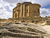The archaeological site of the necropolis and the 12th Century Romanesque church of Santa Maria de la Piscina - Peciña - La Sonsierra - La Rioja - Spain