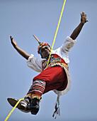 Papantla Flyers. Valparaiso Cultural Carnivals,  Chile (december 27,  2008)