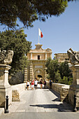 Mdina Gate,  also known as Main Gate and Vilhena Gate,  at the entrance to the medieval city of Mdina,  Malta