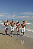 Beach, Blue, Boys, Couple, Friends, Happy, Italy, Life, Lighthouse, Mediterranean, On, Party, Running, Sea, Sky, Summer, Swimming, The, Walking, Warm, Water, XJ9-812366, agefotostock