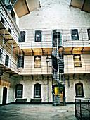 Spiral staircase in the court of Kilmainham Jail,  Dublin,  Ireland