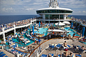 Boat, Caribbean, Color, Colour, Contemporary, Cruise, Deck, Fun, Holiday, Leisure, Navigator, Play, Pool, Recreation, Relax, Relaxation, Seas, Ship, Sun, Sunning, Suntan, Swimming, Tan, Tanning, The, Tourism, Travel, Vacation, XL6-834442, agefotostock
