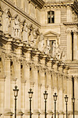 The Musee du Louvre,  France´s national art museum in Paris