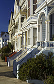 Victorian houses on Alamo Square,  San Francisco,  California,  USA,  America