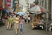 Summer street scene in Seoul,  Korea