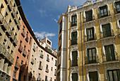 Buildings in the old town,  Madrid,  Spain