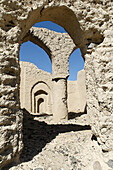 ruins of the historic adobe city of Tanuf,  Hajar al Gharbi Mountains,  Dhakiliya Region,  Sultanate of Oman,  Arabia,  Middle East