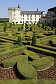 France,  Villandry 37  Castle and ornamental garden