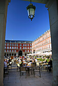 Arcade, Architecture, Colonnade, Historical, Madrid, Major, Mayor, Month, Months, Plaza, Porch, Porches, Summer, summer, summertime, Terraces, Terrazas, Tourism, Turismo, XW4-869772, agefotostock