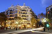 Mila House (aka La Pedrera,  1906-1912) by Gaudí,  Passeig de Gracia,  Barcelona. Catalonia,  Spain