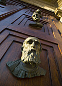 Poland Krakow main doors with heads of St Mary´s Church