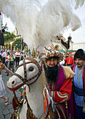 Poland Krakow The annual Lajkonik festival,  celebrating Poland´s victory over the Tartars in 1241