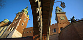 Poland,  Krakow,  Wawel,  east entrance by Coast of Arms Gate and fortifications