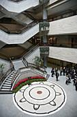 China,  Shanghai,  Shanghai Museum,  lobby,  visitors