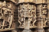 India,  Rajasthan,  Jaisalmer,  Jain temple,  interior,  sculptures