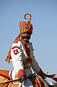 India,  Rajasthan,  Jaisalmer,  Desert Festival,  Border Security Force camel driver