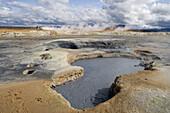 Landscape at Krafla Geothermal Area, Krafla, Nordurland Eystra, Iceland, Europe
