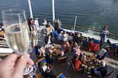 Sail-away Party aboard cruise ship MS Deutschland, Reykjavik, Iceland, Europe