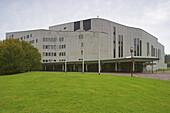 Aalto - Theatre  and RWE Tower, Essen, Ruhrgebiet, North Rhine-Westphalia, Germany, Europe