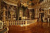 King Ludwigs bedroom at Herrenchiemsee castle, Herrenchiemsee, Chiemgau, Bavaria, Germany