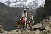 Sikh pilgrims on the way to holy Hemkund lake, Garhwal Himalaya, Uttarakhand, India, Asia