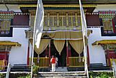 Exterior view of Pemayangtse monastery, Sikkim, Himalaya, Northern India, Asia