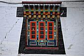 Window of Enchey monastry, Sikkim, Himalaya, Northern India, Asia