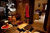 Kitchen of the traditional restaurant Ta Rikardu, The Citadel, Victoria, Gozo, Malta, Europe
