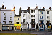 Row of town houses, Street scene in Brighton, East Sussex, England, Great Britain, Europe