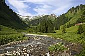 Laufbichl Alpe in Hintersteiner Tal, Bad Hindelang, Allgau, Swabia, Bavaria, Germany