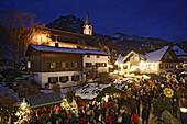 Christmas market in Bad Hindelang, Allgau, Swabia, Bavaria, Germany