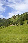 Laufbichl Alpe, Hinterstein Valley, Bad Hindelang, Allgau, Swabia, Bavaria, Germany