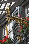 Sign of the Schlenkerla restaurant, Bamberg, Upper Franconia, Bavaria, Germany