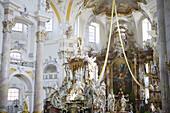 Pilgrimage church Vierzehnheiligen, Franconia, Bavaria, Germany