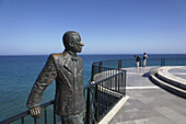 Statue of King Alfonso XII, Balcon de Europa, Nerja, Andalusia, Spain