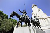 Sculptures of Don Quixote and Sancho Panza, Plaza de Espana, Madrid, Spain