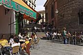 Pavement cafe, Barrio La Latina, Madrid, Spain