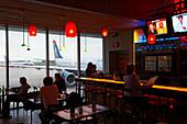 Pub at the airport, Philadelphia, Pennsylvania, USA