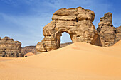 Rock Arch in Akakus mountains, Libya, Sahara, North Africa
