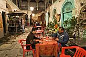 Cardplayers in the Medina, Old Town, Tripoli, Libya, Africa