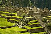 Temple of the Three Windows, Machu Picchu sacred city of the Inca empire, Cusco region, Peru