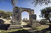 Arch of Alexander Severus, Roman ruins of Dougga, Tunisia  December 2008)