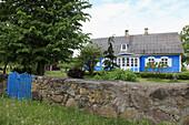 blua Estonaina summerhouse at the boarder of Latvia, Estonia, Baltic Nation, Eastern Europe.