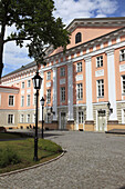 classicistic building of the University in the Estonian city Tartu, Estonia, Baltic State, Eastern Europe.