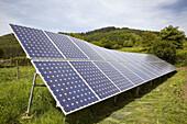 Solar panels, Beizama, Guipuzcoa, Basque Country, Spain