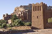 Kasbah in Aït-Ben-Haddou, Unesco World Heritage, near Ouarzazate, High Atlas Mountains in the southeast of Morocco