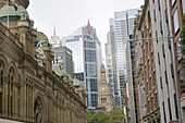 Queen Victoria Building and old Town Hall, downtown Sydney, New South Wales, Australia