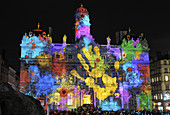 Lyon´s Festival of Lights is a four-day event where contemporary light installations illuminate the city. Rhône-Alpes, France