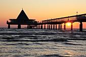 sunrise at the pier of Heringsdorf, Isle of usedom, Western Pomerania, Germany, Europe