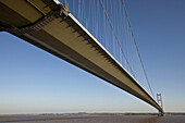Humber Bridge, joining East Yorkshire with North Lincolnshire, England